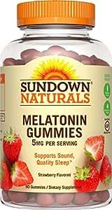 Sundown Naturals Melatonin 5 mg, 60 Gummies