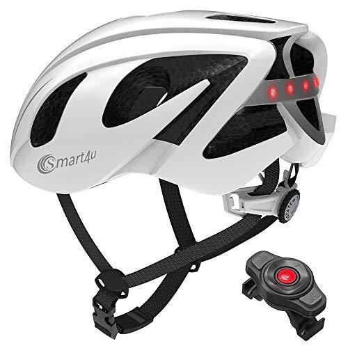 Lixada Adults Cycling Helmet BT Speaker Walkie Talkie SOS Alert Smart Bike Helmet with LED Warning Light