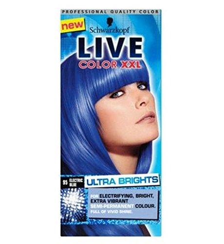 Price comparison product image Schwarzkopf Live Color Xxl Ultra Brights 95 Electric Blue Semi-Permanent Blue Hair Dye