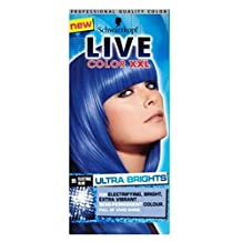 Schwarzkopf Live Color Xxl Ultra Brights 95 Electric Blue Semi-Permanent Blue Hair Dye - Pack of 2