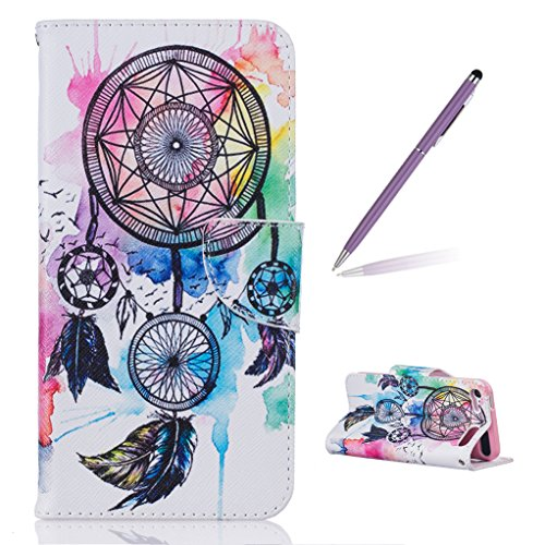 Trumpshop Protective Case for Apple iPod Touch 5 (5th Gen) / iPod Touch 6 (6th Gen) + Dreamcatcher + Premium PU Leather Flip Wallet Cover Card Slots Stand Feature Shockproof]()