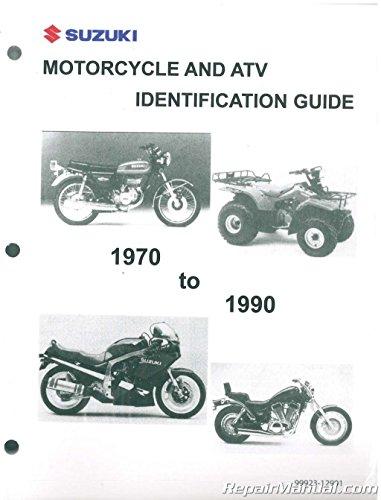 99923-12901 1970 -1990 Suzuki Motorcycle ATV Identification Guide