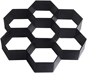 Paving die, plastic film, cement formwork, pavement formwork, hexagonal pattern model
