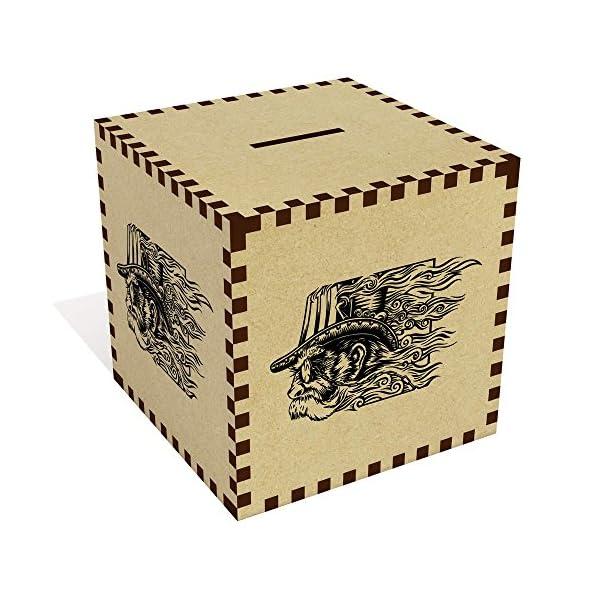 Large 'Steampunk Head Motif' Money Box / Piggy Bank (MB00035828) 3