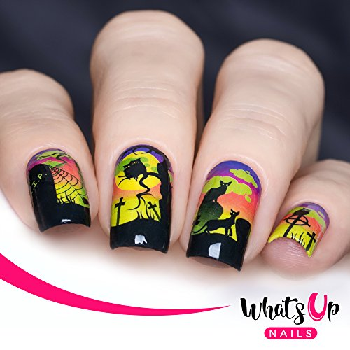 Whats Up Nails - P037 Deadly Night Water Decals Sliders for Halloween Nail Art Design -