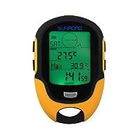 Sunroad multifonction outil de randonné numérique LCD Altimètre Baromètre thermomètre hygromètre Compass Prévisions Météo torche