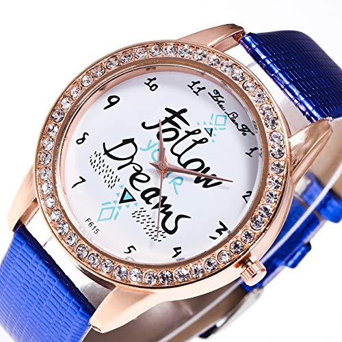 Zhou Lianfa Zalora Ebay.Reloj para Mujer F-615 Correa De Cocodrilo,Azul,Un tamaño: Amazon.es: Deportes y aire libre