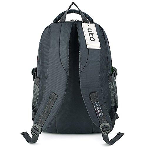 UTO Backpack Nylon Child Teenager Rucksack Primary Junior School Bookbag 520 Grey by UTO (Image #5)