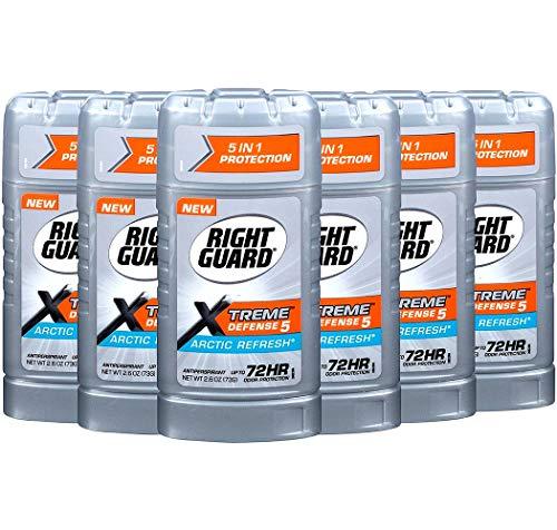 Right Guard Total Defense 5 Antiperspirant Deodorant, Arctic Refresh, 2.6 Ounce (Pack of 6)