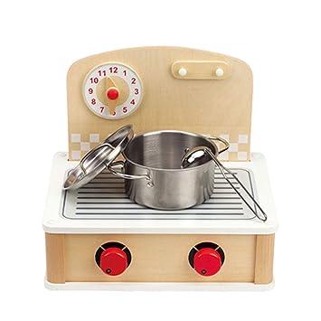 Amazon.com: Pretend Play Kitchen Playsets Kids Wooden Mini ...