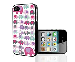 Girly Pink, Purple, and Teal Elephants Pattern Hard Snap on Phone Case (iPhone 5/5s) by icecream design