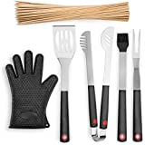 GSCW Custom Chef BBQ Grill Set. 4 Piece Premium Holiday Grilling Accessories Perfect for Gifts - by