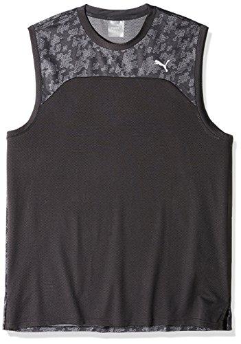 (PUMA Men's Oceanaire Mesh Sleeveless T-Shirt, Black, L)