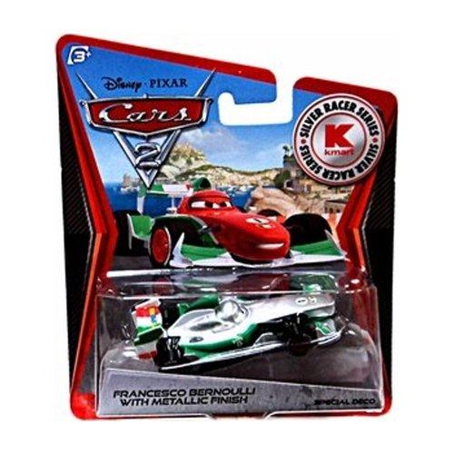 - Disney / Pixar CARS 2 Movie Exclusive 155 Die Cast Car SILVER RACER Francesco Bernoulli by Mattel