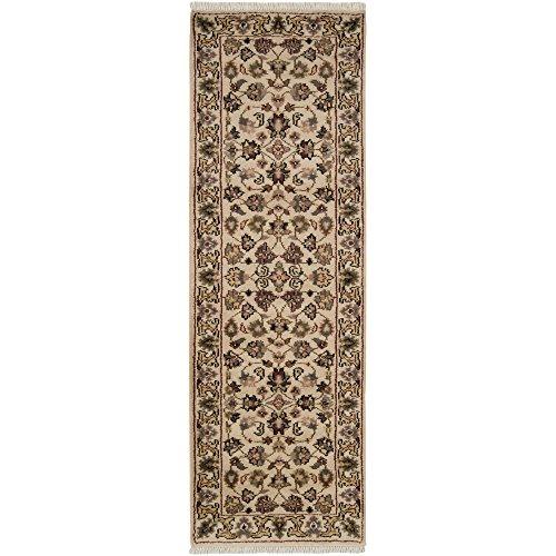 Surya Adana Wool - Surya Adana SAROUK Traditional Hand Knotted 100% Semi-Worsted New Zealand Wool Black 2'6