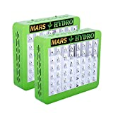 [Pack of 2]MarsHdyro Reflector48 the 102W True Watt Panel LED Grow Light with Veg Flower Switchable Spectrum