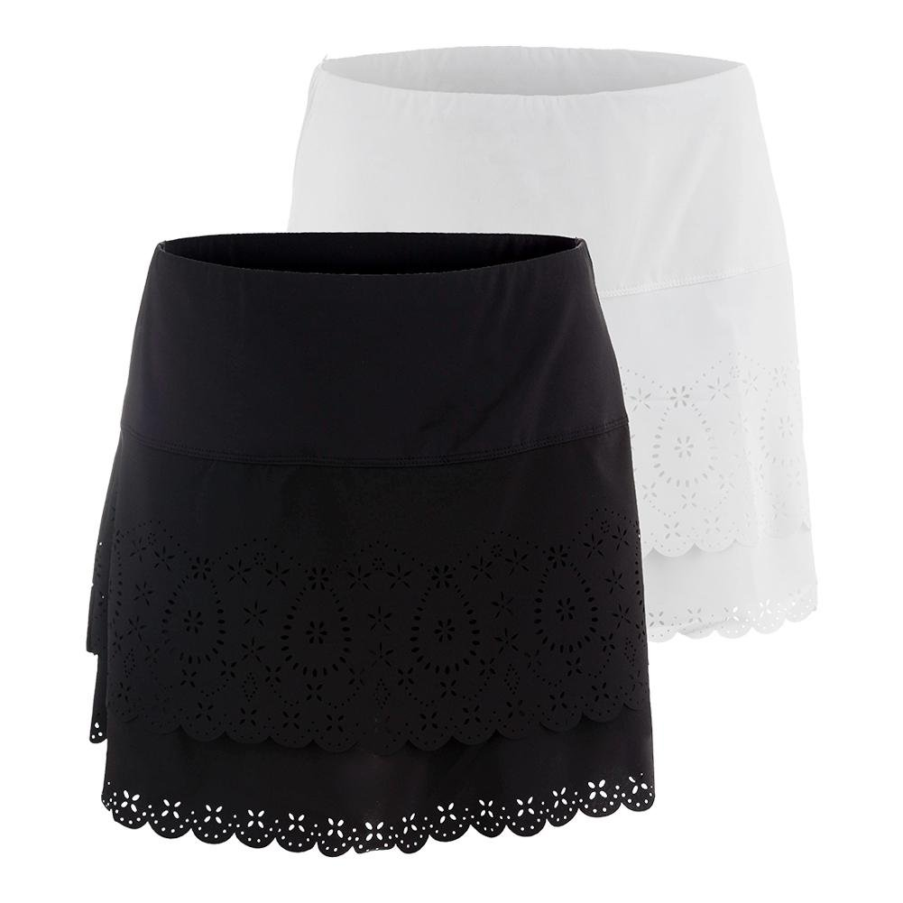 LUCKY IN LOVE Women`s Laser Long Tier Tennis Skort - (CB191-U17)