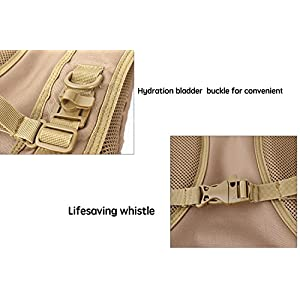 Tactical Hydration Pack Backpacks with 2.5L Bladder for Hiking, Biking, Running, Walking and Climbing (TAN)