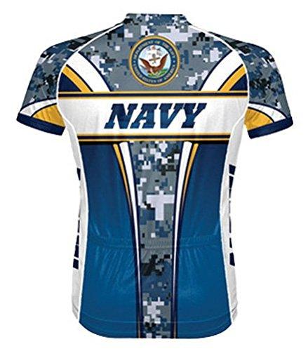 Primal Wear Men's US Navy Camo Cycling Jersey - NAT1J20M (US Navy Eleven - 2X)