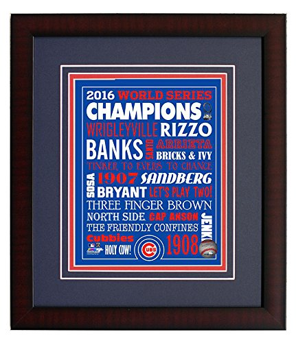 Chicago Cubs - History Collage, 2016 World Series Champions! Framed 8x10 Photo Picture