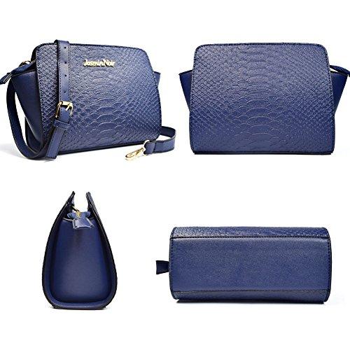 Snake Leather Bag PU Blue Small Wing Body Purse Pattern Bag Women Messenger Cross tqgpSZZ