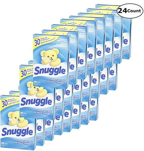 Snuggle Fabric Softner Dryer Sheets, Cuddle Up Fresh Scent, Reduces Static Cling - 480 Count by Snuggle (Image #2)