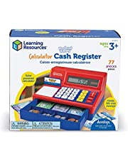 Learning Resources Pretend & Play Calculator Cash Register with Canadian Currency, Classic Counting Toy, Kids Cash Register, 73 Pieces, Ages 3+
