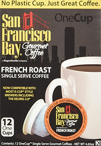 San Francisco Bay French Roast Coffee Capsule, Compatible with Keurig K-Cup Brewers, 12-Count