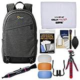 Lowepro M-Trekker BP 150 DSLR Camera Backpack Case (Grey) with Flex Tripod + Flash Diffusers + Kit