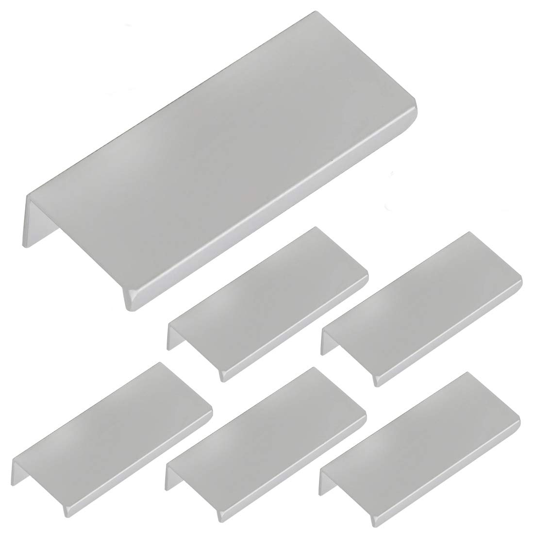 10 Pack Rok Hardware 1-31//32 Hole Centers Modern Style Finger Edge Pull Aluminum Metal Brushed Stainless Steel Finish Home Kitchen Door Drawer Cabinet 2-3//4 Length Handle P898950SS P898950SS-10