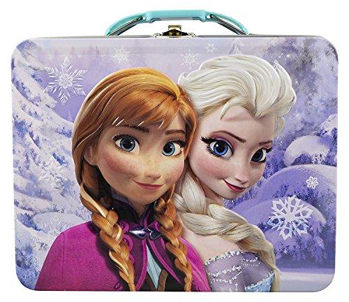 Disney Frozen 3D Design Embossed - Metal Tin Lunchbox (Frozen Tin Box)