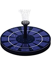 LAWOHO Solar Fountain Pump 2.5W Upgraded Submersible Solar Water Fountain Panel Kit, Build in Battery Constantly Effluent Water Pump for Bird Bath, Small Pond, Fish Tank and Patio Garden Decoration