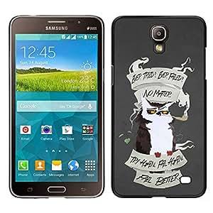Caucho caso de Shell duro de la cubierta de accesorios de protección BY RAYDREAMMM - Samsung Galaxy Mega 2 - Motivación divertido