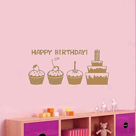 yiyiyaya Palabras de Feliz cumpleaños Pegatinas de Pared ...