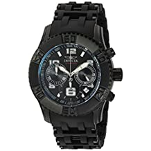 Invicta Men's 'Sea Spider' Quartz Stainless Steel and Polyurethane Casual Watch, Color:Black (Model: 22454)
