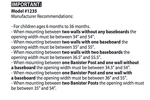Regalo Extra Tall Top Of Stairs Gate, With Mounting Kit, White