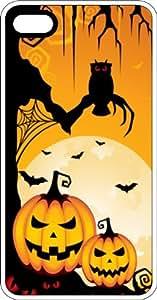 Halloween Pumpkins, Bats, & Spiders White Plastic Case for Apple iPhone 6 Plus