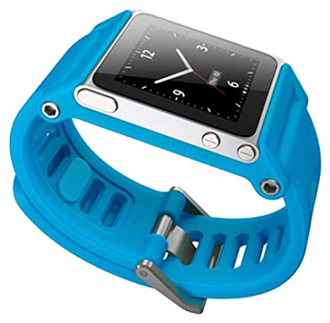Amazon.com: LunaTik TikTok Watch Wrist Strap for iPod Nano 6G - Cyan: Electronics