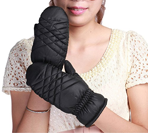 Nanxson(TM) Women/ Young Girls Warm Fleece Windproof Cycling Riding Glove ST0009 black