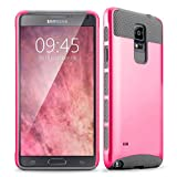 Note 4 case, Samcore Hybrid 2 in 1 Dual Layer Rugged Shockproof Case for Samsung Galaxy Note 4 case cover (Hot Pink/Grey)