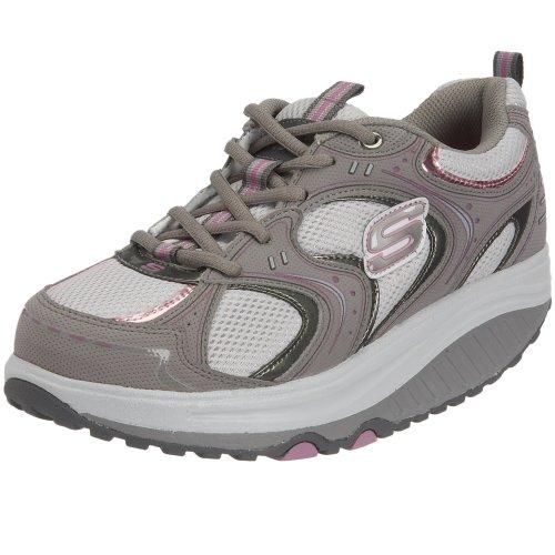 Skechers Women's Shape Ups Action Packed Fitness Walking Shoe,Grey/Pink,8.5 M US ()