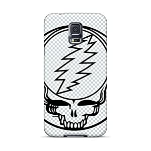Shock-Absorbing Hard Phone Cases For Samsung Galaxy S5 (Pod17548bcfZ) Unique Design Attractive Grateful Dead Band Pattern
