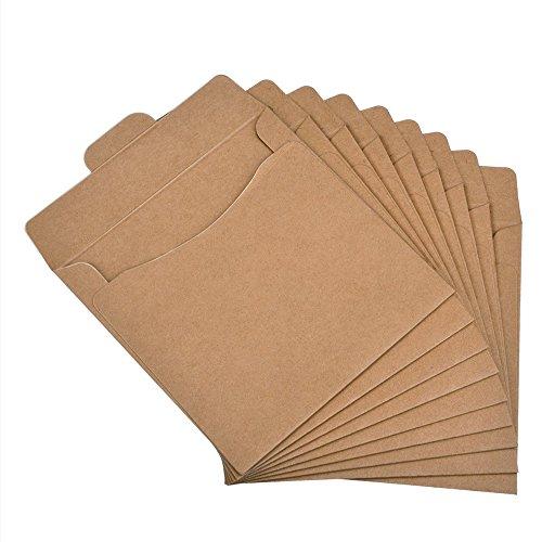 Kaimao 30 Packs CD DVD Sleeves Kraft Paper CD Envelopes Storage - Scratch Promotion Old