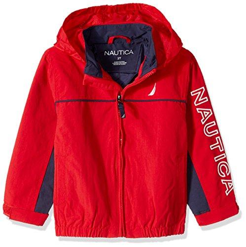 Nautica Little Boys' Anchor Toddler Jacket, Carmine, 2T