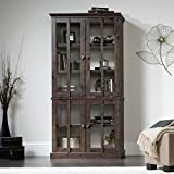 Sauder New Grange Storage Cabinet in Coffee Oak