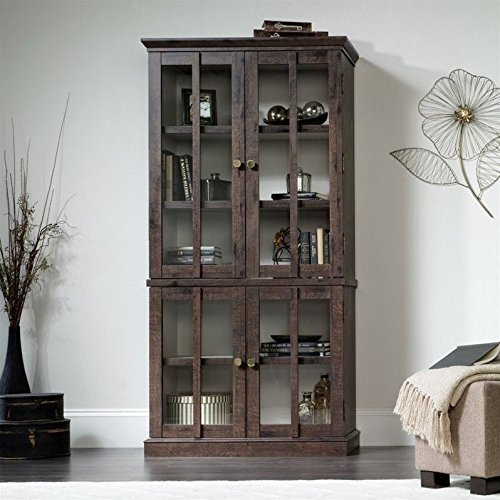 Sauder New Grange Storage Cabinet in Coffee Oak by Sauder