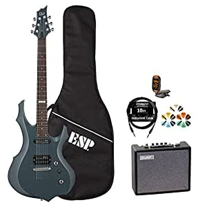 esp f jb f10kit gsb kit 5 electric guitar with tuner picks esp gig bag cable and. Black Bedroom Furniture Sets. Home Design Ideas