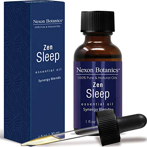 Zen Sleep Essential Oil Synergy Blend - Pure and Natural Undiluted Therapeutic Grade Blends for Good Sleeping - Blended from Lavender, Cederwood and Geranium Oils - Aromatherapy, Relaxation 30ml