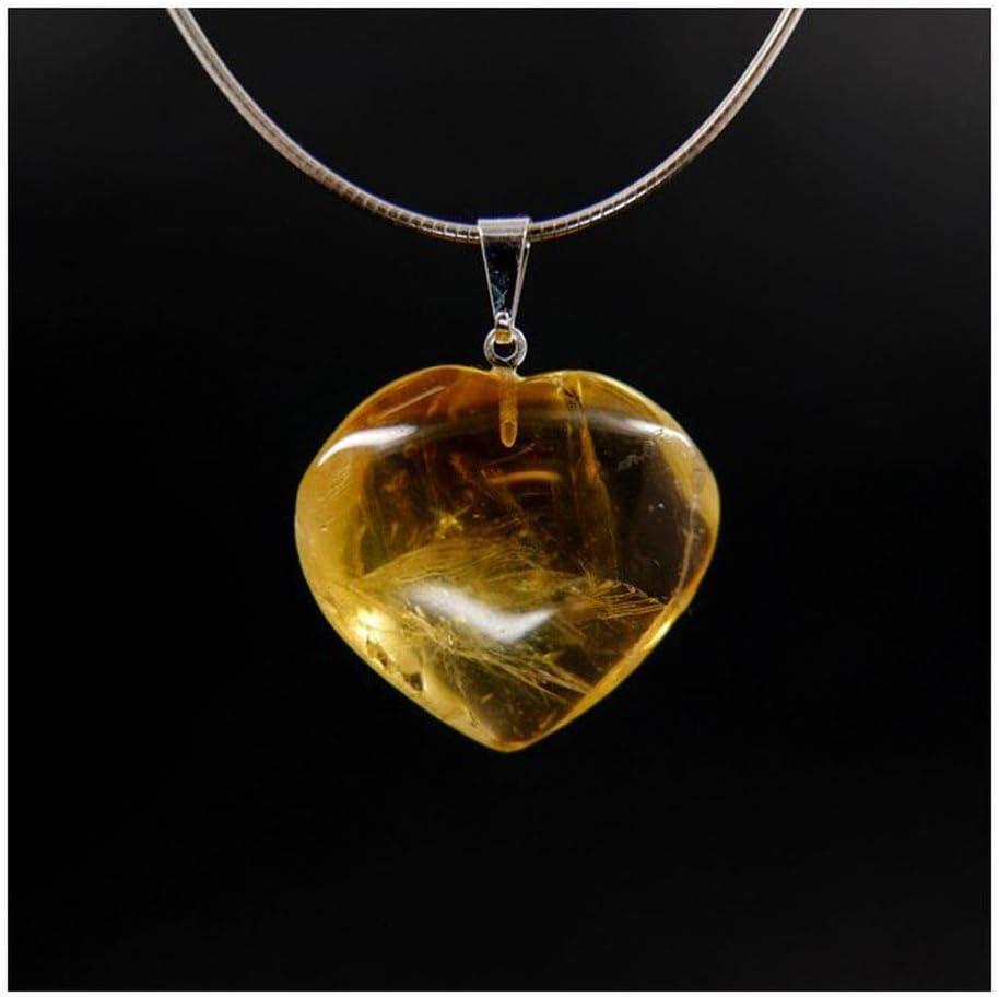 Mineral Import Colgante Corazón de Citrino Potenciado - 4050VC
