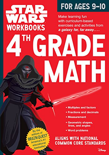 Star Wars Workbook: 4th Grade Math (Star Wars ()